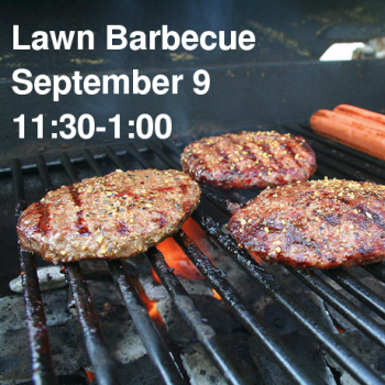 Lawn Barbecue 2018. September 9 11:30-1:00