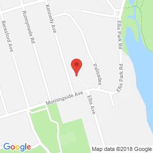 Google Map of 4 Morningside Avenue, Toronto