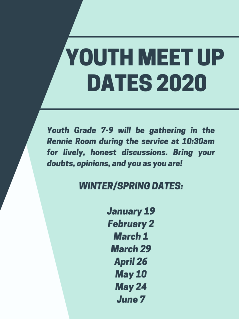 Youth Meet Up Dates 2020
